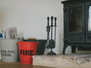 Lovely woodburner to snuggle up to!