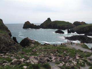 Spectacular Kynance Cove; only five miles distant and ideal for children with it's many rock pools