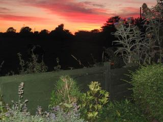 September sunset from rear of garden
