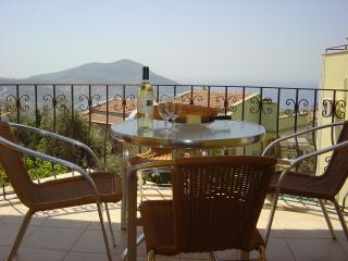 First floor balcony view over Kalkan Bay.