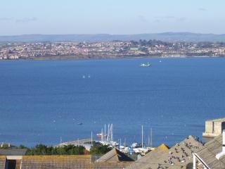 Portland Harbour Olympic Sailing course from the garden