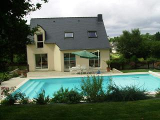 View from the garden- terrace,pool and house