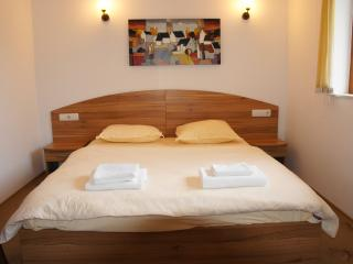 Main spacious bedroom, extremely large comfortable bed (with double wardrobe)
