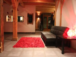 Hallway, Chalet Pomet, a large Chalet in Morillon, The Grand Massif, Catered or Self Catered