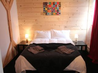 Bedroom 6, Chalet Pomet, a large Chalet in Morillon, The Grand Massif, Catered or Self Catered