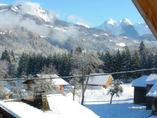 View from Chalet, Chalet Pomet, a large Chalet in Morillon, The Grand Massif,Catered or Self Catered