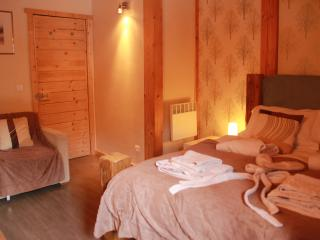 Bedroom 3, Chalet Pomet, a large Chalet in Morillon, The Grand Massif, Catered or Self Catered