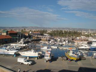 Pafos Harbour with beautiful fish restaurants