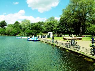 Victoria Park, complete with row boats in summer for your paddling pleasure!