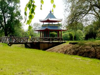 Beautiful Chinese Pagoda in Victoria Park, commemorating the original which stood in Victorian times