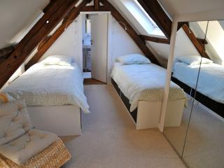 the twin beds in mezzanine