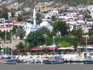 Kalkan's historical old town with the mosque