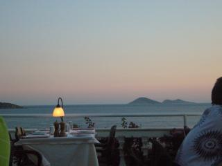 Romantic dining overlooking the bay