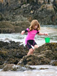 Rock pools keep the kids entertained within sight of home