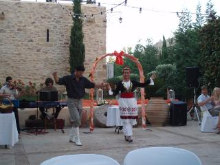 Cretan dances at a wedding celebration at the villas