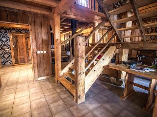 Beautiful pine staircase made from reclaimed timber