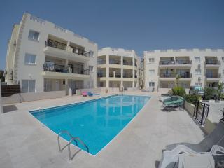 Large pool terrace with own sunbeds
