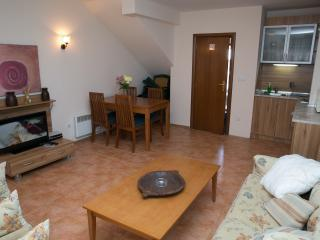 Large spacious and light living area.  Satellite TV, DVD, WiFi & log fire