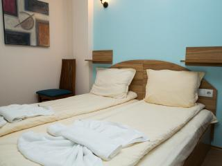 Second bedroom, another spacious room with large comfortable bed (with double wardrobe)